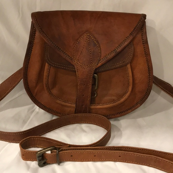 no brand Bags   Small Leather Crossbody Bag With Oklahoma Button ... c92fc23f6a